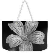 Flower In Black And White Weekender Tote Bag