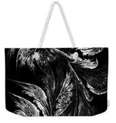 Flower In Black-and-white Weekender Tote Bag