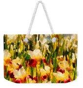 Flower - Iris - Mildred Presby 1923 Weekender Tote Bag by Mike Savad