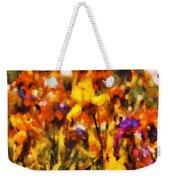 Flower - Iris - Orchestra Weekender Tote Bag by Mike Savad