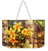 Flower - Lily - Yellow Lily  Weekender Tote Bag by Mike Savad