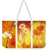Flower Love Triptic Weekender Tote Bag