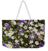 Flower Mix - Purple And White Weekender Tote Bag