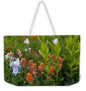 Flower Mosaic Weekender Tote Bag