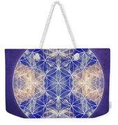 Flower Of Life Blue Weekender Tote Bag