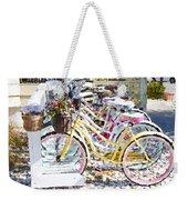 Flower On A Bicycle 2 Weekender Tote Bag