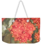 Flower On The Wall Weekender Tote Bag