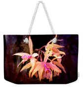 Flower - Orchid - Laelia - Midnight Passion Weekender Tote Bag by Mike Savad