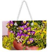 Flower - Pansy - Purple Posies  Weekender Tote Bag by Mike Savad
