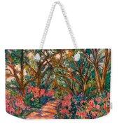 Flower Path Weekender Tote Bag