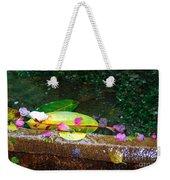 Flower Petals And Leaves Weekender Tote Bag