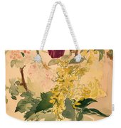 Flower Piece With Iris Laburnum And Geranium Weekender Tote Bag