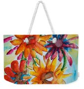 Flower Splash Weekender Tote Bag