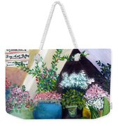 Flower Stand On Worth Ave In Palm Beach Weekender Tote Bag