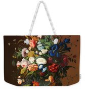 Flower Still Life With A Bird's Nest Weekender Tote Bag