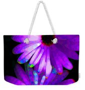 Flower Study 6 - Vibrant Purple By Sharon Cummings Weekender Tote Bag by Sharon Cummings