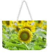 Flower - Texas Sunflower Field 1 - Luther Fine Art Weekender Tote Bag