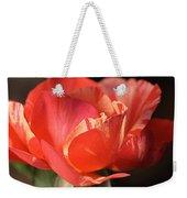 Flower-tri Toned-rose Weekender Tote Bag