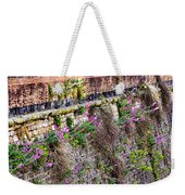 Flower Wall Along The Arno River- Florence Italy Weekender Tote Bag