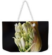 Flower-white-agapanthus-bud Weekender Tote Bag