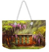 Flower - Wisteria - A Lovers View Weekender Tote Bag by Mike Savad