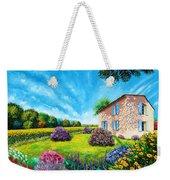Flowered Garden Weekender Tote Bag