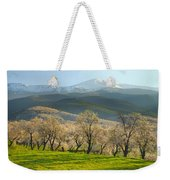 Flowering Almond At The Mountains Weekender Tote Bag