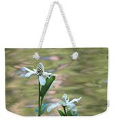 Flowering Pond Plant Weekender Tote Bag
