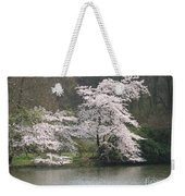 Flowering Tree At The Pond Weekender Tote Bag