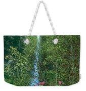 Flowering Tree Below Multnomah Falls Columbia River Gorge Nsa Oregon Weekender Tote Bag