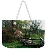 Flowering Trees In Bloom Along Fence Weekender Tote Bag