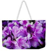 Flowers 2078 Embossed Weekender Tote Bag