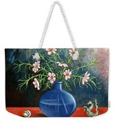 Flowers And Dragon Weekender Tote Bag