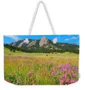 The Flatirons Colorado Weekender Tote Bag