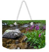 Flowers And Stream Weekender Tote Bag