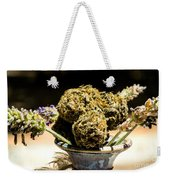 Organic Flowers And Vase Weekender Tote Bag