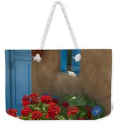 Flowers At Ranchos De Taos Weekender Tote Bag