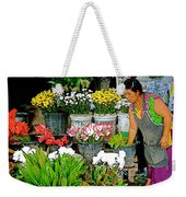 Flowers For Sale In Marketplace In Tachilek-burma Weekender Tote Bag