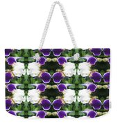 Flowers From Cherryhill Nj America White  Purple Combination Graphically Enhanced Innovative Pattern Weekender Tote Bag