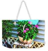 Flowers In A Basket Weekender Tote Bag