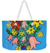 Flowers In A Blue Vase Weekender Tote Bag