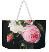 Flowers In A Glass Vase Weekender Tote Bag