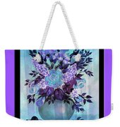Flowers In A Vase With Lilac Border Weekender Tote Bag