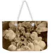 Flowers In Sepia Weekender Tote Bag