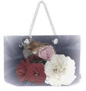 Flowers In Silver Weekender Tote Bag