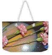 Flowers In Space Weekender Tote Bag