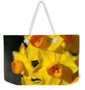 flowers-Jonquils-bright yellow Weekender Tote Bag