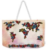 Flowers Map  Weekender Tote Bag