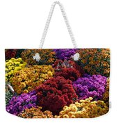 Flowers Near The Grand Palais Off Of Champ Elysees In Paris France   Weekender Tote Bag