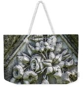 Flowers On A Grave Stone Weekender Tote Bag